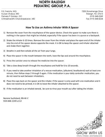 How to use an Inhaler with a Spacer for an Older Child