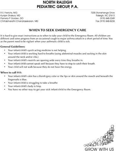 When to Seek Emergency Care